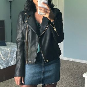 BLANK NYC FAUX LEATHER MOTO JACKET **NEW**
